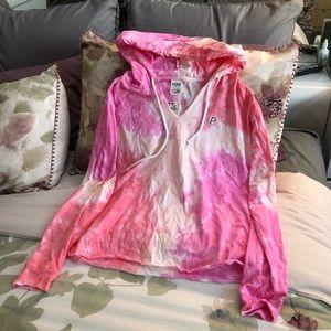 Victoria secret pink tie dye crop top